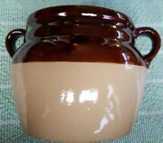 WESTERN POTTERY BROWN GLAZE BEAN POT WITHOUT LID