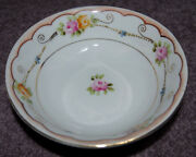 *** Vintage Victorian NIPPON HAND PAINTED BOWL PINK Yellow ROSES