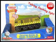 Thomas The Tank Engine Wooden Train 【talking And Flashing】 Diesel 10 New In Box