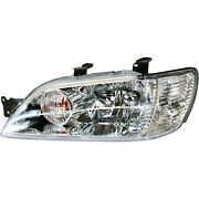 Headlight For 2002-2003 Mitsubishi Lancer Left Clear Lens With Bulb