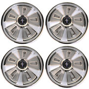 66 Ford Mustang Wheel Cover 4 Pc Set - 14 Inch 4 Center Caps Included
