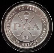 Rare 1.26 Oz Silver 1916-1991 Pga Golf 75 Years Of Excellence Commerative