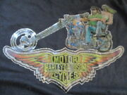 Vintage Harley Davidson Motor Cycles Iron-on Go @ Yourself Med T-shirt