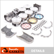 Piston And Rings Set+engine Bearings Fit 97-08 Ford Lincoln 5.4l 2v Sohc Nonpi