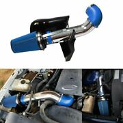 Blue 4 Cold Air Intake System+heat Shield For 99-06 Gmc/chevy V8 4.8l/5.3l/6.0l
