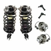 6 Piece Steering And Suspension Kit Strut And Spring Assemblies Wheel Bearings New
