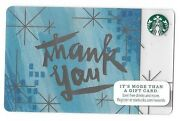 2014 Starbucks Card Thank You Blue Winter Background, Silver Stars