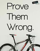 Prove Them Wrong Motivational Quote Vinyl Wall Decal Sticker 6072