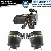 3 Piece Air Suspension Kit Front Springs W/ Compressor For Expedition Navigator