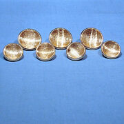 Solid 14k Yellow Gold Decorated Blazer Buttons 7-piece Set