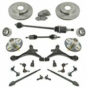 21 Piece Steering Suspension And Brake Kit Control Arms Axles Tie Rods Brakes New
