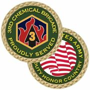 Army 3rd Chemical Brigade 1.75 Challenge Coin