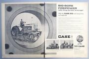 Orig 1965 Case 930 Tractor Ad Big Bore Firepower Wont Drag Down On Tough Jobs