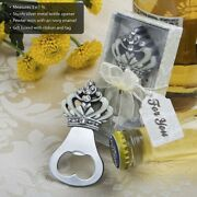 96 Crown Design Bottle Openers Wedding Bridal Shower Birthday Party Favors