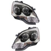 Headlight Set For 2008-2012 Gmc Acadia Left And Right With Bulb 2pc