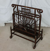 Antique Stick And Ball Style Magazine Stand Or Newspaper Storage Rack