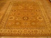 Rug Indian Soft Handmade Carpet Wool 8and039 X 10and039 Light Brown Agra
