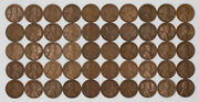1923 S Lincoln Wheat Cent Penny 1c G - F Good To Fine Full Roll 50 Coins