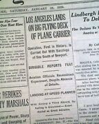 First Airship To Land On Aircraft Carrier Uss Los Angeles Zeppelin1928 Newspaper