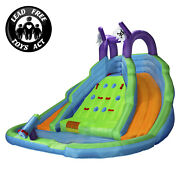 Cloud 9 Bounce House With Climbing Wall Water Slide And Pool With Blower