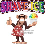 Shave Ice Decal Choose Your Size Monkey Concession Food Truck Vinyl Sticker