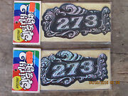 Nos 1970and039s Chroma Graphic Swirly Gigs Sticker Pair 273 Mopar Groovy Psychadelic