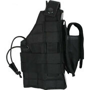 Black Molle Belt Holster W/ Mag Pouch Fits Beretta Apx 92 96 Px4 Px9 Walther P22