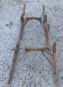 Antique Buggy Wagon Sled Runners Skis
