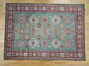 9and0392x12and0399 Super Kazak Hand-knotted 100 Percent Wool Green Oriental Rugsh R39894