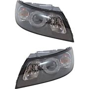 Headlight Set For 2004-2007 Volvo S40 2005-2007 V50 Left And Right W/ Bulb