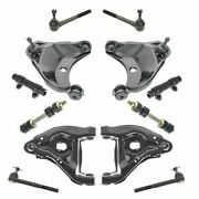 12 Piece Steering And Suspension Kit Control Arms Tie Rods Sway Bar End Links New