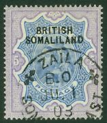 Sg 13 Somaliland Protectorate 1903 5r Ultramarine And Violet. Ovp At Top. Very...