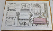 1762 Antique Color Print///eight Views In The Royal Palace, France