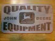 John Deere Quality Equipment Vintage Style Wood Sign Man Tin Implements Edition