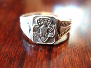 1960s Sterling Silver Girl Scout Ring Eagle Logo Collector Leader Collector Gift
