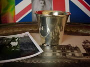 Ultra Rare Vintage Hermes Silver Vase Cup Shot Glass Barware Cocktail Party