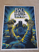 Eminem Royce Da 5and0399 Signed Bad Meets Evil Lithograph Autograph Poster