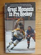 Great Moments In Hockey Bobby Orr By Allen Camelli Soft Cover Book Boston Bruins