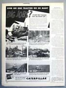 10x14 Original 1955 Caterpillar D4 Ad Ever See One Tractor Do So Many Big Jobs