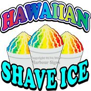 Hawaiian Shave Ice Decal Choose Your Size Concession Food Truck Vinyl Sticker