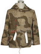 Ww2 German Tanandwater Camo And White Winter Reversible Parka Size L -33996