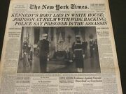 1963 November 24 New York Times - Kennedyand039s Body Lies In White House - Nt 7172
