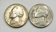 1953-s And 1954-s Jefferson Nickels Toning Vch Unc Af393