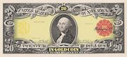 Proof Print By The Bep - Face Of 1905/1922 20 Gold Certificate Gold Coin Note
