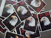 100 Used Stamps 2540 2.90 Eagle/priority Mail