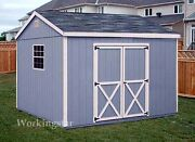 10and039 X 16and039 Gable Style Storage Shed Plans / Building Blueprints And Guides E1016