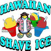 Hawaiian Shave Ice Decal Choose Your Size Food Truck Concession Vinyl Sticker