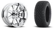 20 20x10 D536 Maverick Chrome Wheels 33 Fuel At Tire Package 6x5.5 Toyota Chevy