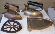2 Hotpoint Electric Clothes Or Sad Irons With Trivets Patent Date Oct.25. 1910