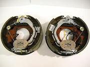 Pair 12-1/4x3-3/8 10k Gd Electric Backing Plate 10000 Trailer Brake Fit Dexter